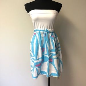 Lilly Pulitzer Sailboat Knit Strapless Dress M